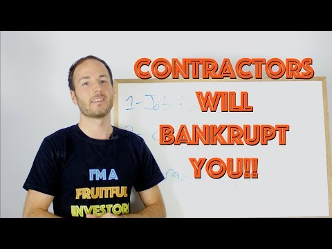 Contractors Will BANKRUPT Your Real Estate Investing Business! 3 Tips!
