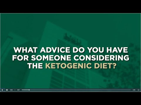 Ketogenic Diet with USF Health's Dominic D'Agostino, Ph.D ...