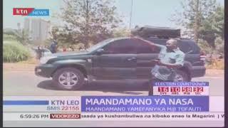 Watu wawili waugua majeraha baada ya kugongwa na gari wakifanya maandamano za NASA