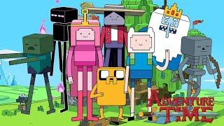 Adventure Time | Finn vs Enderman Minecraft Episode | Cartoon Network на русском
