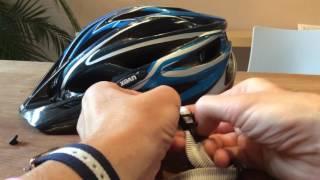 UVEX Fahrradhelm: Riemen Gurtband anbringen Gurtband Riemen einziehen einstellen auch Alpina-Helme