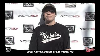 2020 Aaliyah Medina Catcher Softball Skills Video - Lil Rebels Las Vegas