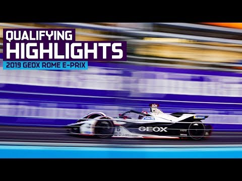 Crazy Drama At End Of Qualifying! 2019 GEOX Rome E-Prix | ABB FIA Formula E Championship