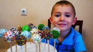 Мини тортики КЕЙК ПОПСЫ популярный десерт