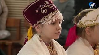 Первоклассники 14-й новгородской школы представили музыкальный спектакль по мотивам былины «Садко»
