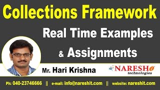 Collections Framework - Real Time Examples and Assignments | Core Java Tutorial | Mr. Hari Krishna