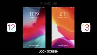 IOS 13 VS IOS 12 Design Change