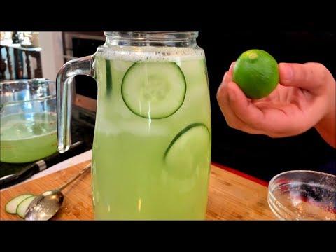 THE BEST Fresh Cucumber Water   Agua Fresca de pepino   Views on the road