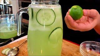 THE BEST Fresh Cucumber Water | Agua Fresca De Pepino | Views Kitchen