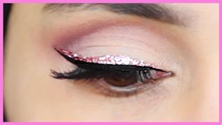 HOW TO APPLY GLITTER EYELINER! | Amena