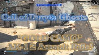 Call Of Duty Ghosts Multiplayer  GOLD CAMO Unlocked AK12 Assault Rifle 1080p HD