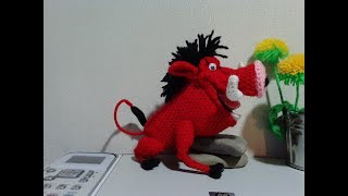 """Кабан Пумба из """"Король лев"""", ч.3.  Boar Pumbaa from the """"Lion King"""", р.3."""