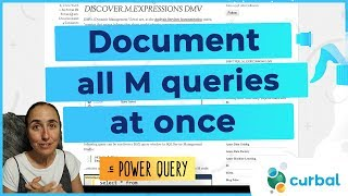 Document all Power Query M code without copy pasting it