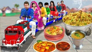 छोटा ट्रेन खाने की दुकान Mini Train Restaurant Comedy Video हिंदी कहानिय Hindi Kahaniya Comedy Video