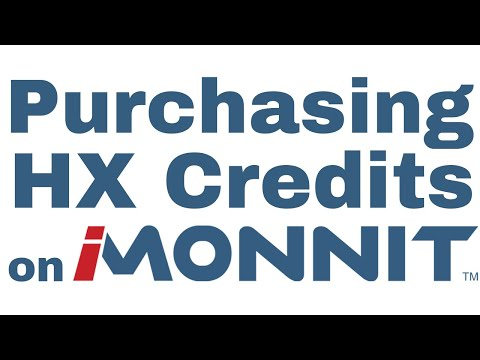 how to purchase HX credits on iMonnit