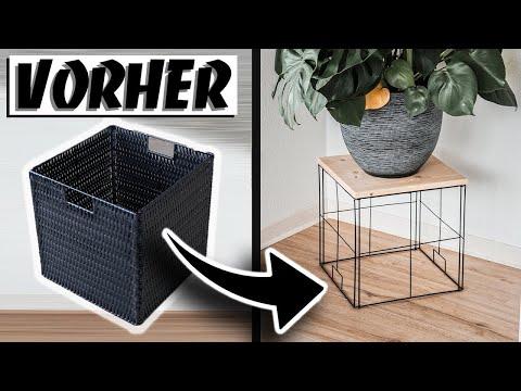 IKEA UPCYCLING - Kleiner TISCH AUS KALLAX KORB | EASY ALEX