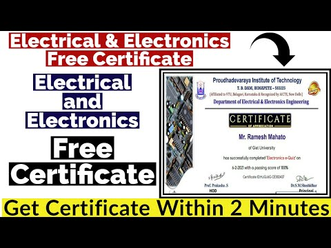 Electrical & Electronics Free Certificate - YouTube