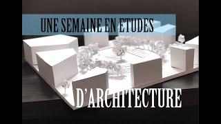 Une Semaine En études D'architecture