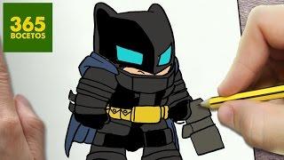 COMO DIBUJAR BATMAN CON ARMADURA KAWAII PASO A PASO - Dibujos kawaii faciles - How to draw BATMAN