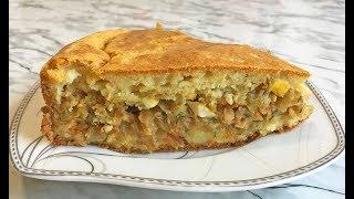 Самый Простой ПИРОГ С КАПУСТОЙ Быстро и Вкусно / Капустный Пирог / Cabbage Pie