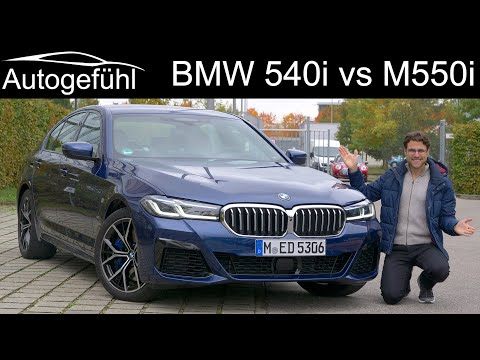 BMW 540i M Sport FULL driving REVIEW vs BMW M550i comparison 5-Series Facelift 2021