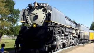 UP 3977 Steam Engine In Kody Park,  Nebraska
