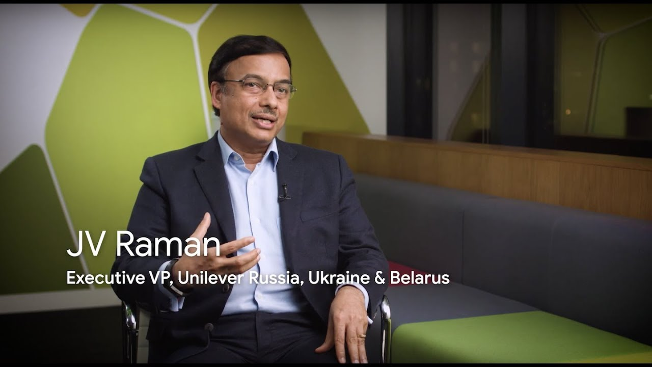 Video of J.V. Raman, Executive VP of Unilever Russia, Ukraine and Belarus, discussing the positive impact of #IamRemarkable on Unilever employees