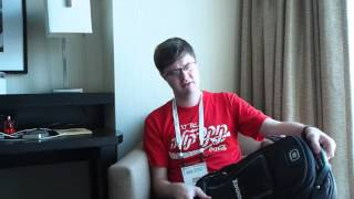 """Рюкзак для ноутбука DUBYAO серый  28х46х12  ткань полиэстер   ксС41сер от компании Производственно-торговое предприятие """"BAGS"""" - видео"""