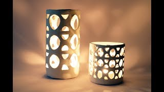 How To Make An Air Dry Clay Lantern