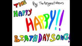 The Happy Happy Birthday Song - The Arrogant Worms (Horribru Animation)