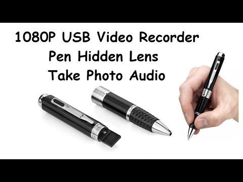 1080P USB Video Recorder Pen Hidden Lens Take Photo Audio