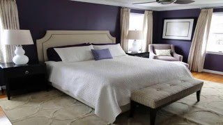 Stunning Black White And Purple Bedrooms