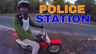 Riding A Dirt Bike On The Streets Downtown - TTR 90 & CRF 70 MotoVlog
