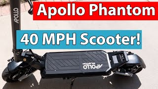 Apollo Phantom Unboxing and Review | 40+ MPH Electric Scooter