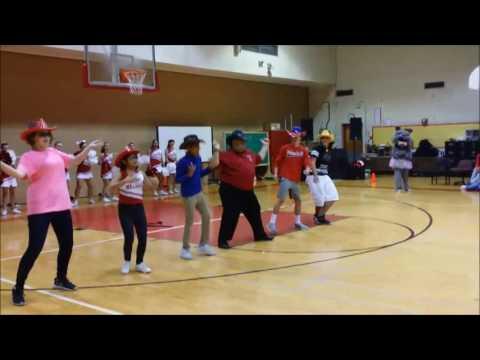 Principal Dancing JuJu on that Beat at Pep Rally