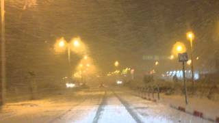 preview picture of video 'Snow on the way home , Nazareth'