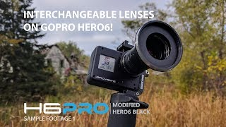 Interchangeable Lenses on GoPro Hero6