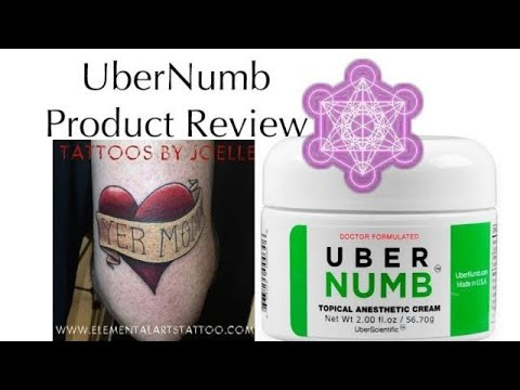 UberScientific UberNumb Tattoo Lidocaine Numbing Cream How-to and Review