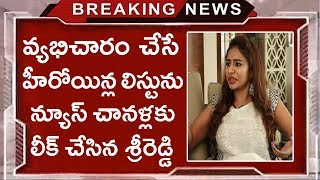 Sri Reddy Reveals US Casting Couch Heroines Names | Tollywood Nagar