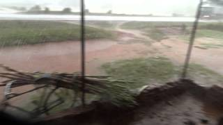 preview picture of video 'Uganda, hardest tropical rain storm we caught on video'
