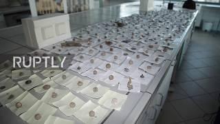 Poland:ResearchersdisplaybattlefieldremnantsfromSevenYearsWarinKunowice