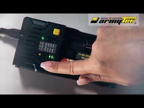 Wybór prądu do ładowania akumulatorów w Armytek Uni C2