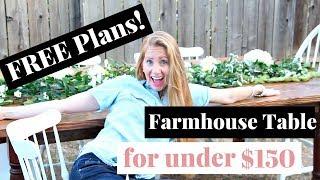 How To Build A Farmhouse Table | DIY Farmhouse Table