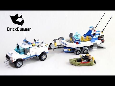 Vidéo LEGO City 60045 : L'intervention du bâteau de police