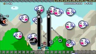 【Super Mario Maker】クリア率0%(0/6510)鬼畜列車・ワンワン超特急コースに挑戦【マリオメーカー】