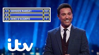 Gino D'Acampo Is Left Embarrassed As Gordon Ramsay Is Named TV's Most Famous Chef | Family Fortunes
