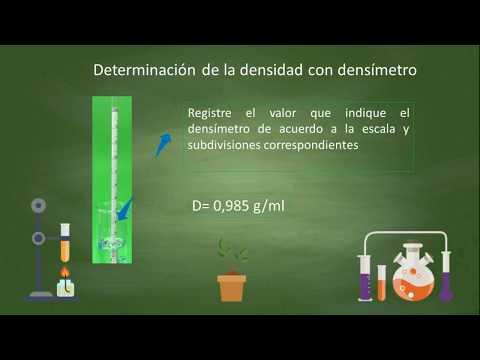 Densidad utilizando densímetro