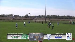 Boys Soccer Regional @ Argos - Bremen vs Boone Grove