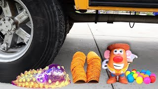 Crushing Crunchy & Soft Things by Bus! - Floral Foam needed, Squishy, Tide Pods and More!
