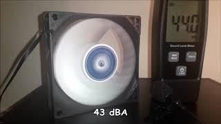 F8 Arctic fan 80 mm review test noise, silent, PWM connection